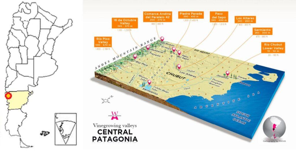 Genera Grafico De Mapa De Chubut .